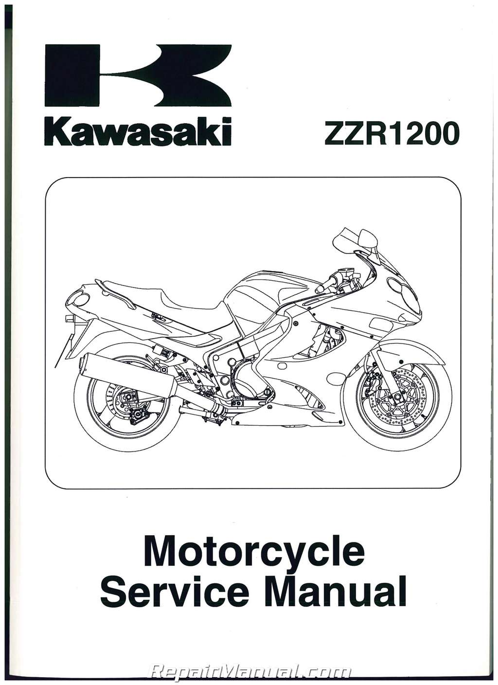 2002-2005 Kawasaki ZZR1200 Motorcycle Service Manual