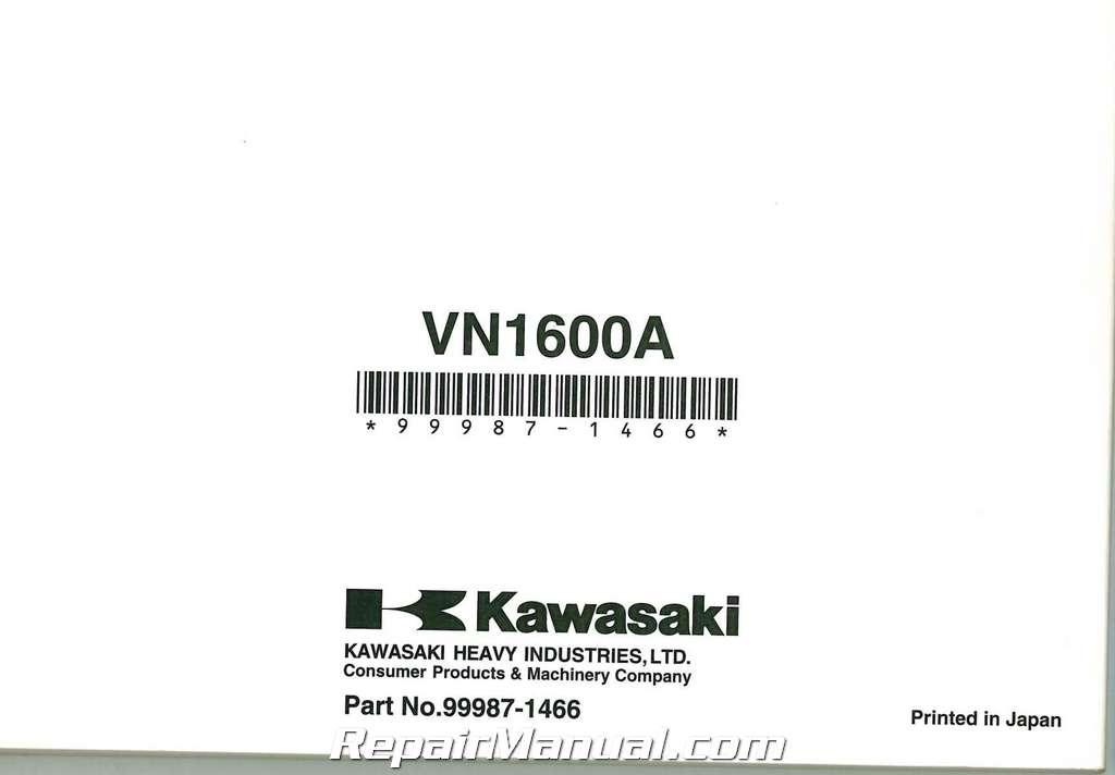 2003-2008 Kawasaki VN1600A Vulcan Classic Motorcycle