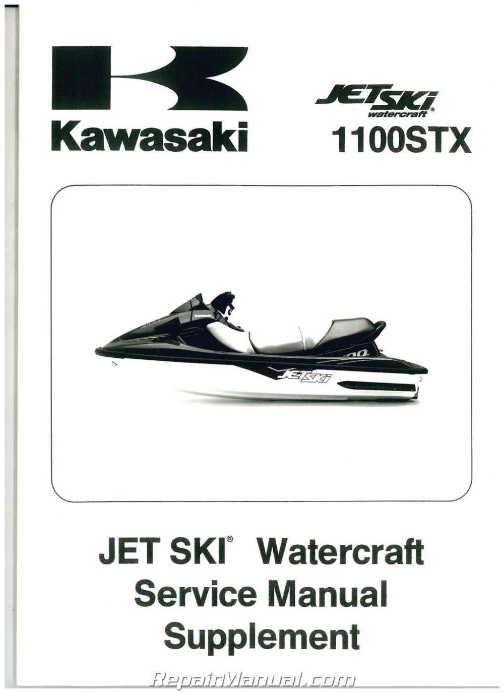 medium resolution of 1998 1999 kawasaki 1100 stx jet ski factory service manual supplement