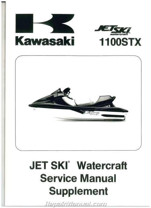 small resolution of 1998 1999 kawasaki 1100 stx jet ski factory service manual supplement