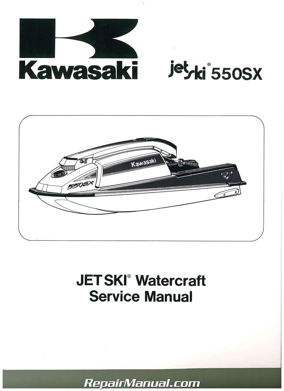 1990-1993 Kawasaki JET SKI JS550-B Factory Service Manual