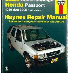 details about isuzu rodeo amigo honda passport 1989 2002 haynes automotive repair manual  [ 1024 x 1325 Pixel ]