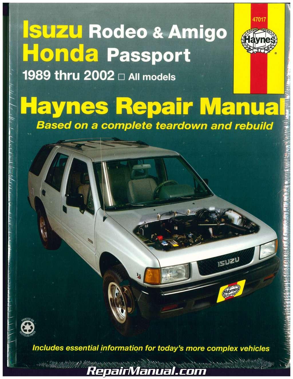 hight resolution of details about isuzu rodeo amigo honda passport 1989 2002 haynes automotive repair manual