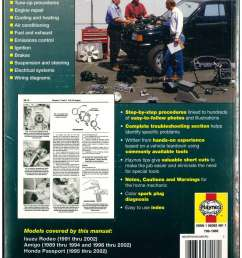 isuzu rodeo amigo honda passport 1989 2002 haynes automotive repair manual [ 1024 x 1325 Pixel ]