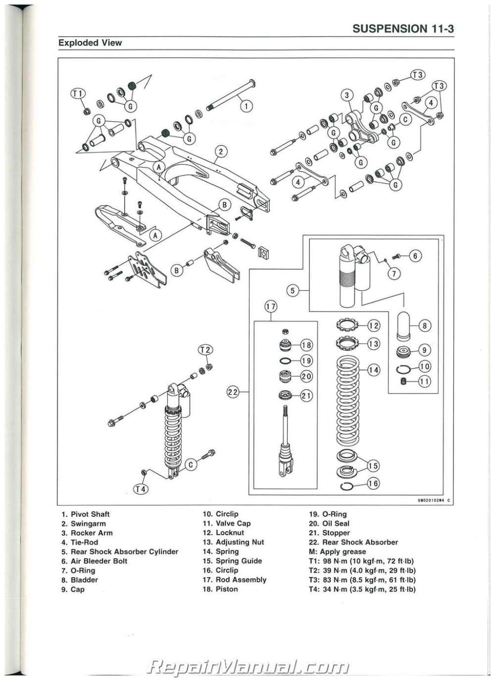 medium resolution of kawasaki kx250f wiring diagram