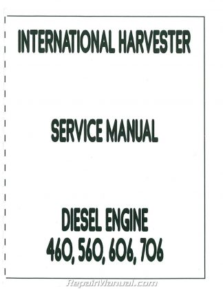 International Harvester 606 and 2606 Service Manual