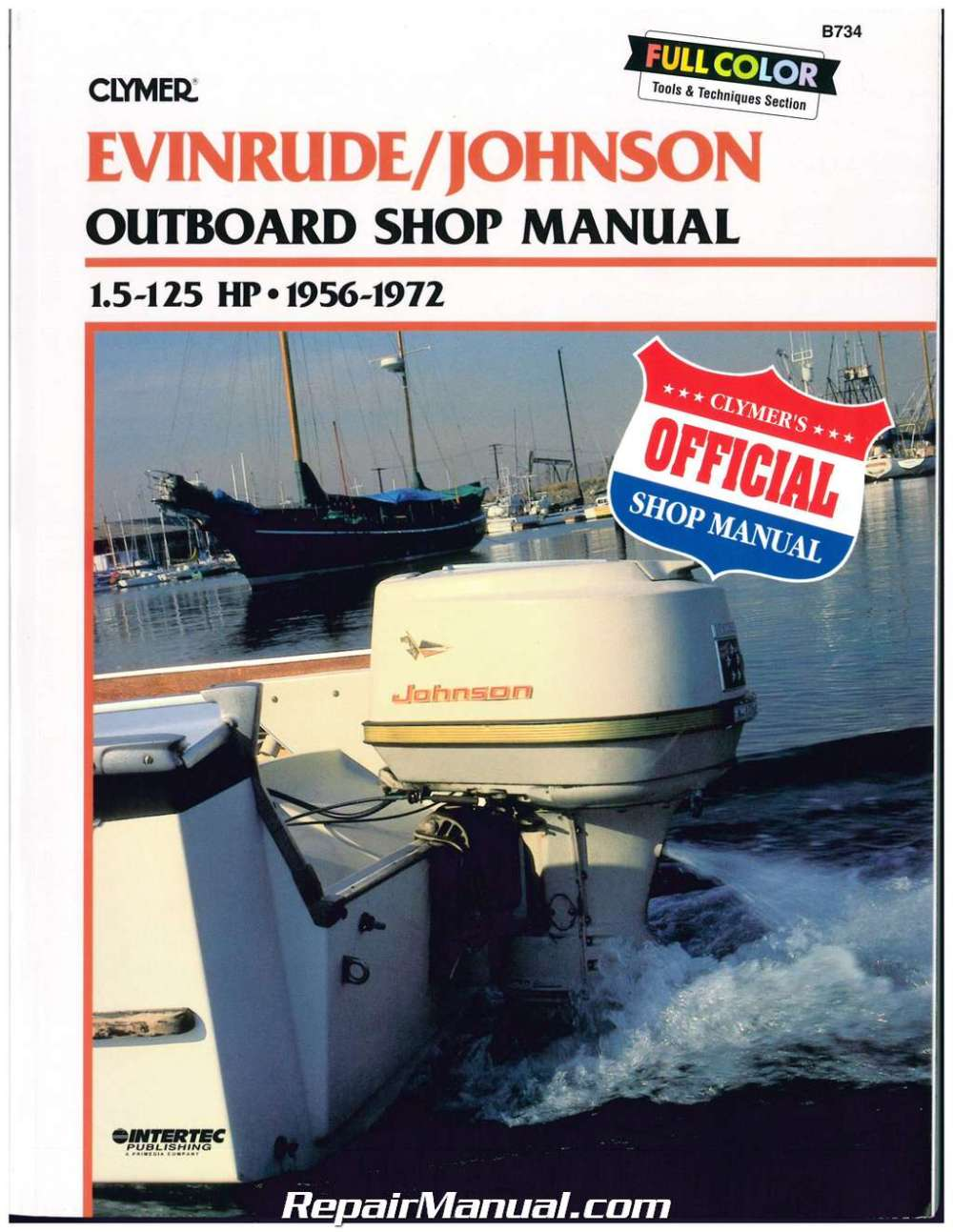 medium resolution of clymer evinrude johnson 1 5 125 hp 1956 1972 outboard boat engine service manual