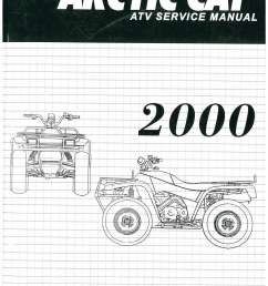 2000 arctic cat 250 300 400 500 atv service manual [ 1024 x 1325 Pixel ]