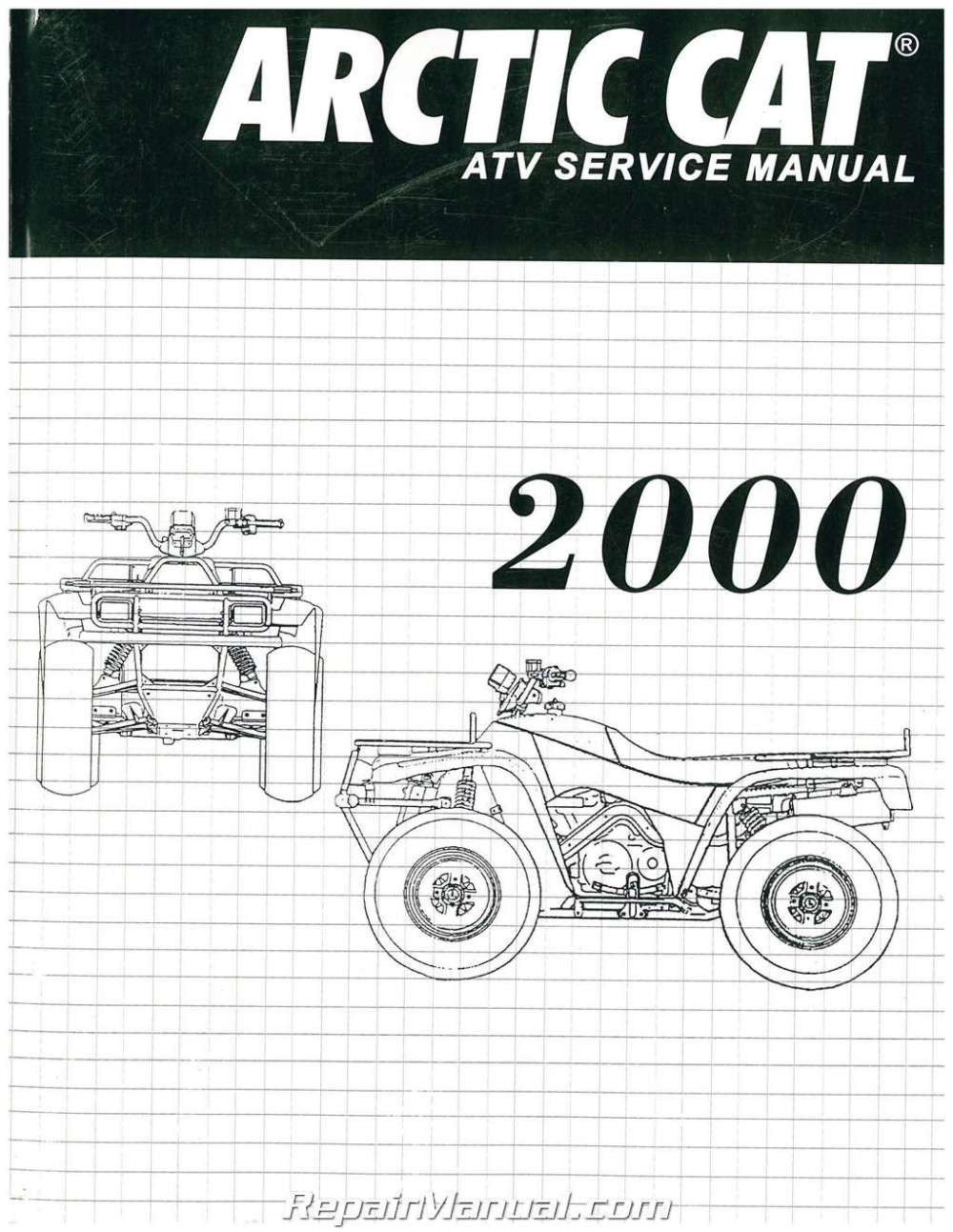 medium resolution of 2000 arctic cat 250 300 400 500 atv service manual