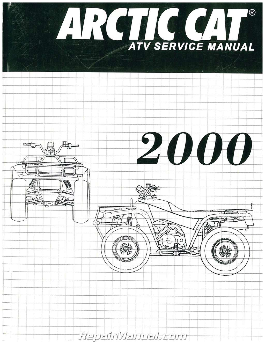 hight resolution of 2000 arctic cat 250 300 400 500 atv service manual