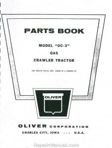 Oliver OC-3 Crawler Parts Manual
