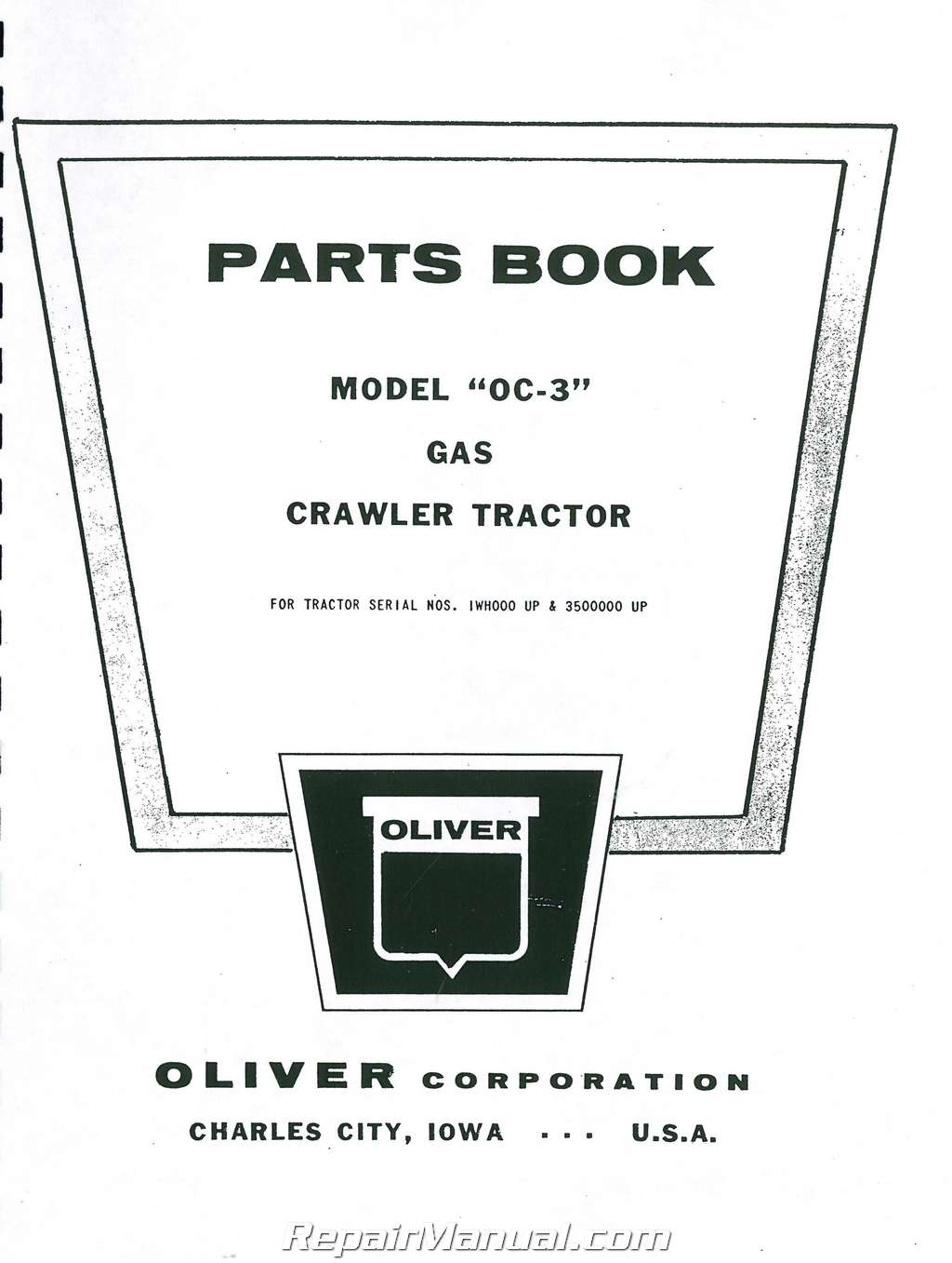 Oliver OC-3 Crawler Parts Manual