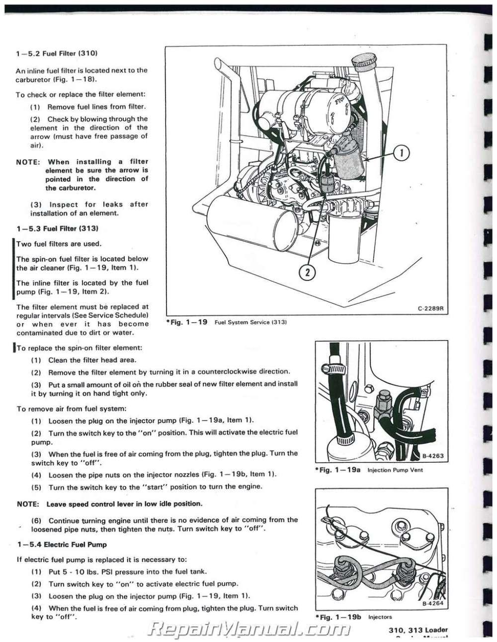 medium resolution of bobcat 310 313 371 service manual bobcat 873 wiring diagram bobcat 310 wiring schematic