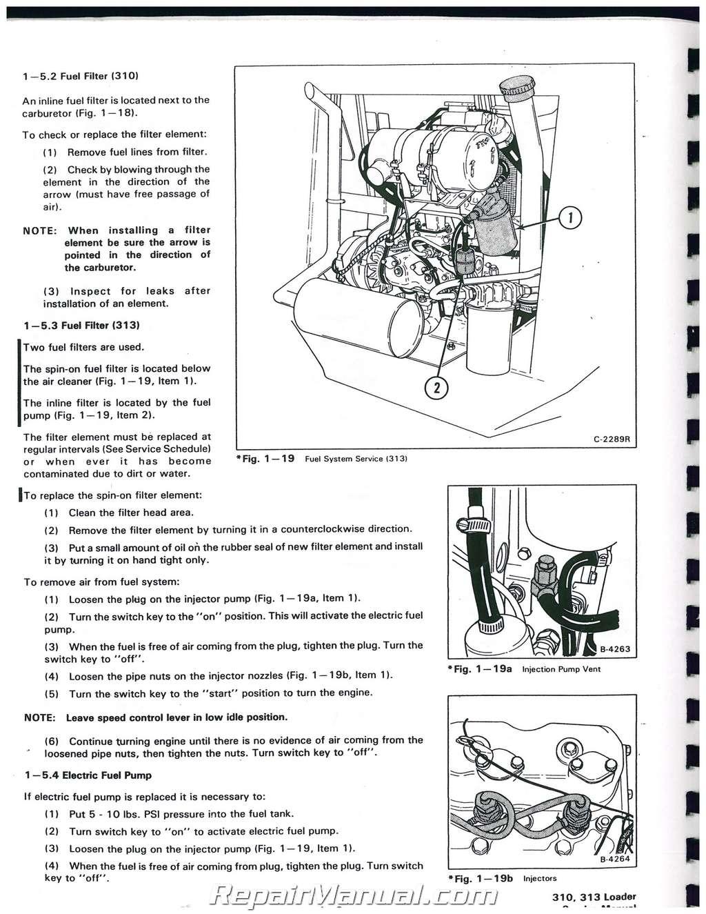 hight resolution of bobcat 310 313 371 service manual bobcat 873 wiring diagram bobcat 310 wiring schematic