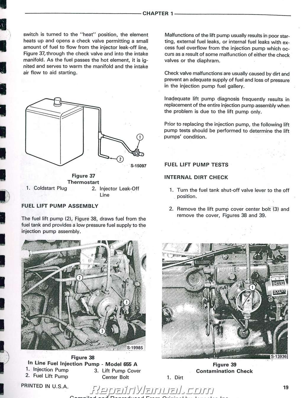 hight resolution of ford 555a 555b 655a tractor loader backhoe printed service manual rh repairmanual com wiring diagram