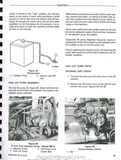 small resolution of ford 555a 555b 655a tractor loader backhoe printed service manual rh repairmanual com wiring diagram