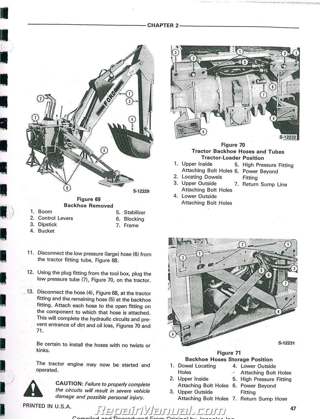 hight resolution of ford 555a 555b 655a tractor loader backhoe printed service manual rh repairmanual com ford 555 backhoe