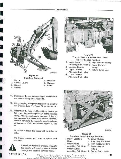 small resolution of ford 555a 555b 655a tractor loader backhoe printed service manual rh repairmanual com ford 555 backhoe