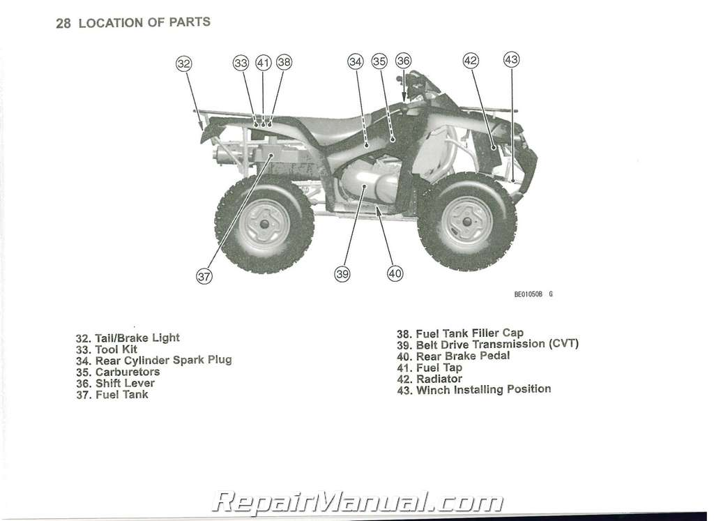 2011 Kawasaki KVF650F Brute Force 650 4x4i ATV Owners Manual
