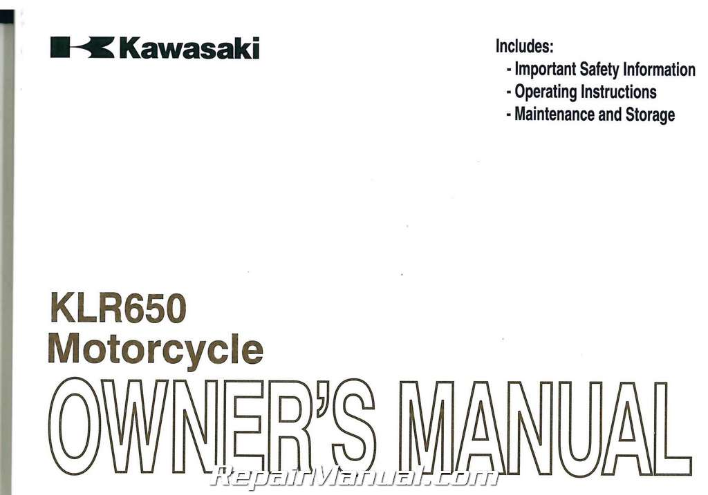 2011 Kawasaki KL650E KLR650 Motorcycle Owners Manual