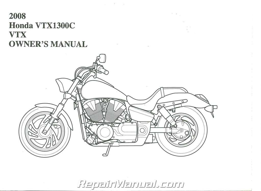 2008 Honda VTX1300C A CE Motorcycle Owners Manual
