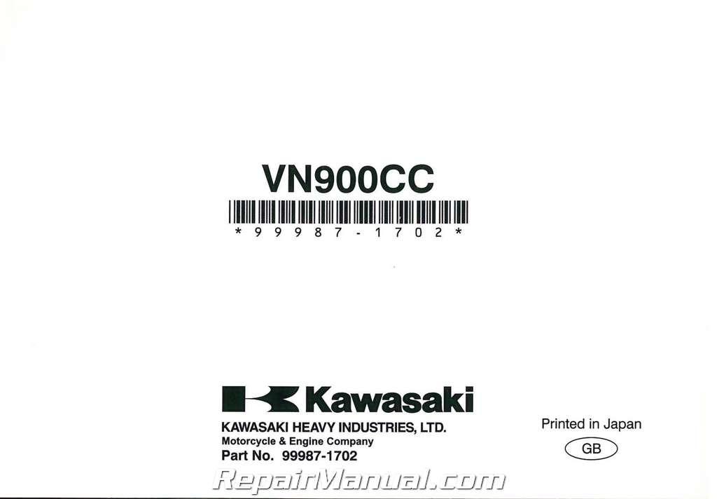 2007-2011 Kawasaki VN900C Vulcan Custom Motorcycle Owners