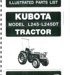 kubota l245 l245dt dsl 4wd tractor parts manual [ 1024 x 1325 Pixel ]