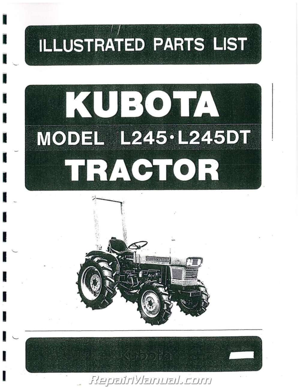 medium resolution of l245 kubotum tractor diagram