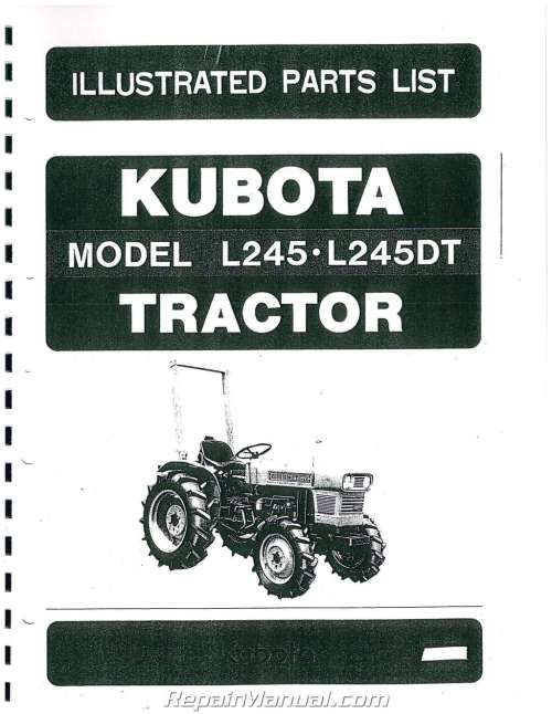 small resolution of l245 kubotum tractor diagram