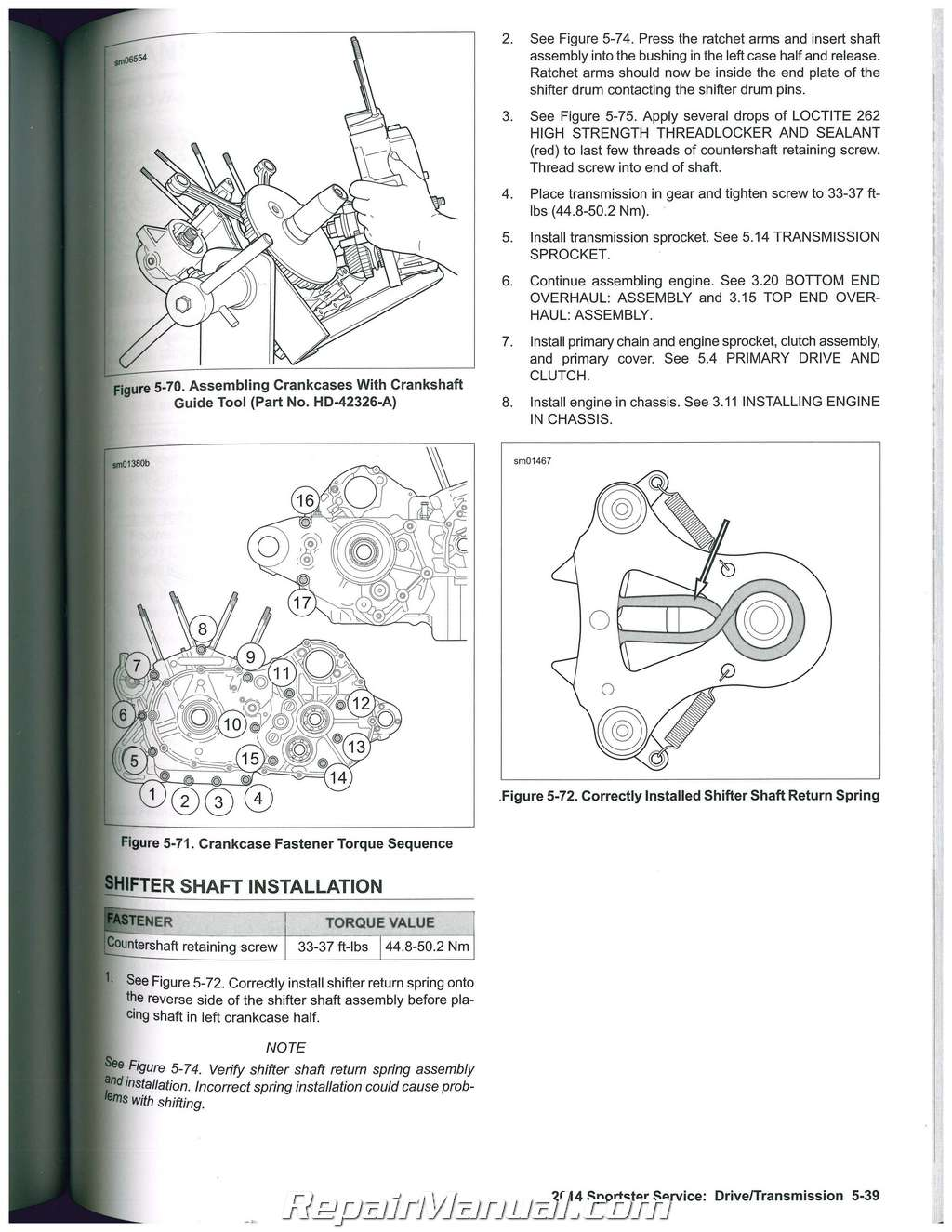 2014 Harley Davidson Sportster Motorcycle Service Manual