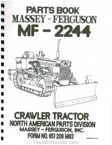Massey Ferguson 2244 Parts Manual