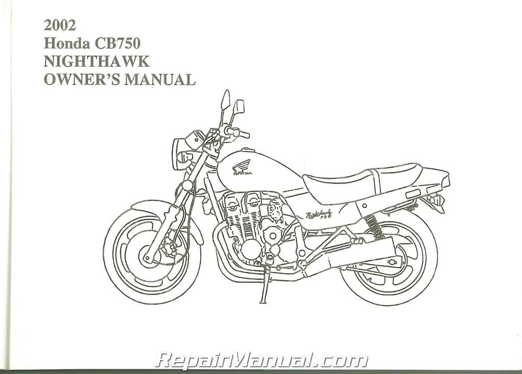 2002 Honda CB750 Nighthawk Motorcycle Owner Manual