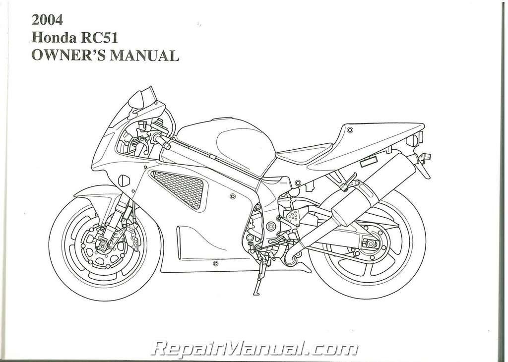 2004 Honda RVT1000R RC51 Motorcycle Owners Manual