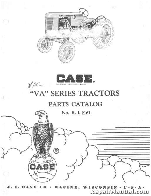 JI Case VA Series Tractors Parts Manual