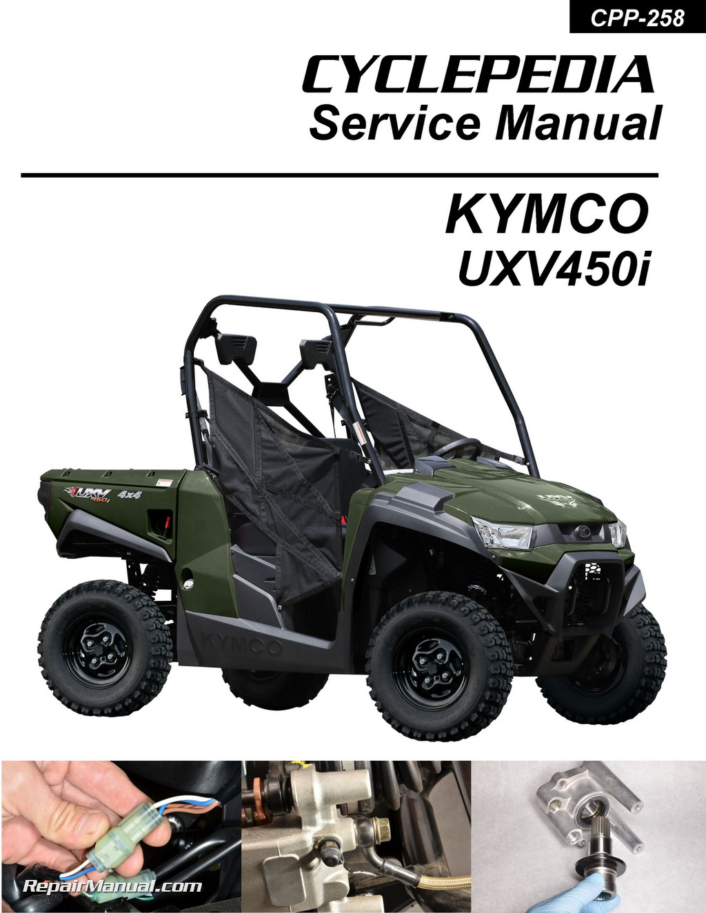 hight resolution of kymco uxv 450i 4x4 side x side printed service manual