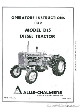 Allis-Chalmers D15 Series II Gas And Diesel Tractor