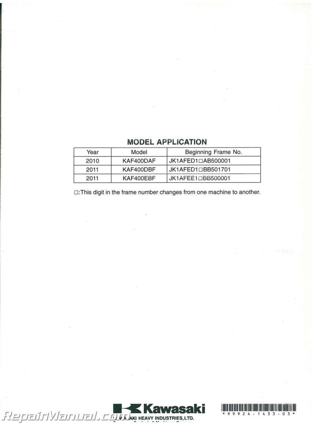 medium resolution of  2011 kawasaki mule 610 service manual on kawasaki klf 300 wiring diagram argo wiring diagram