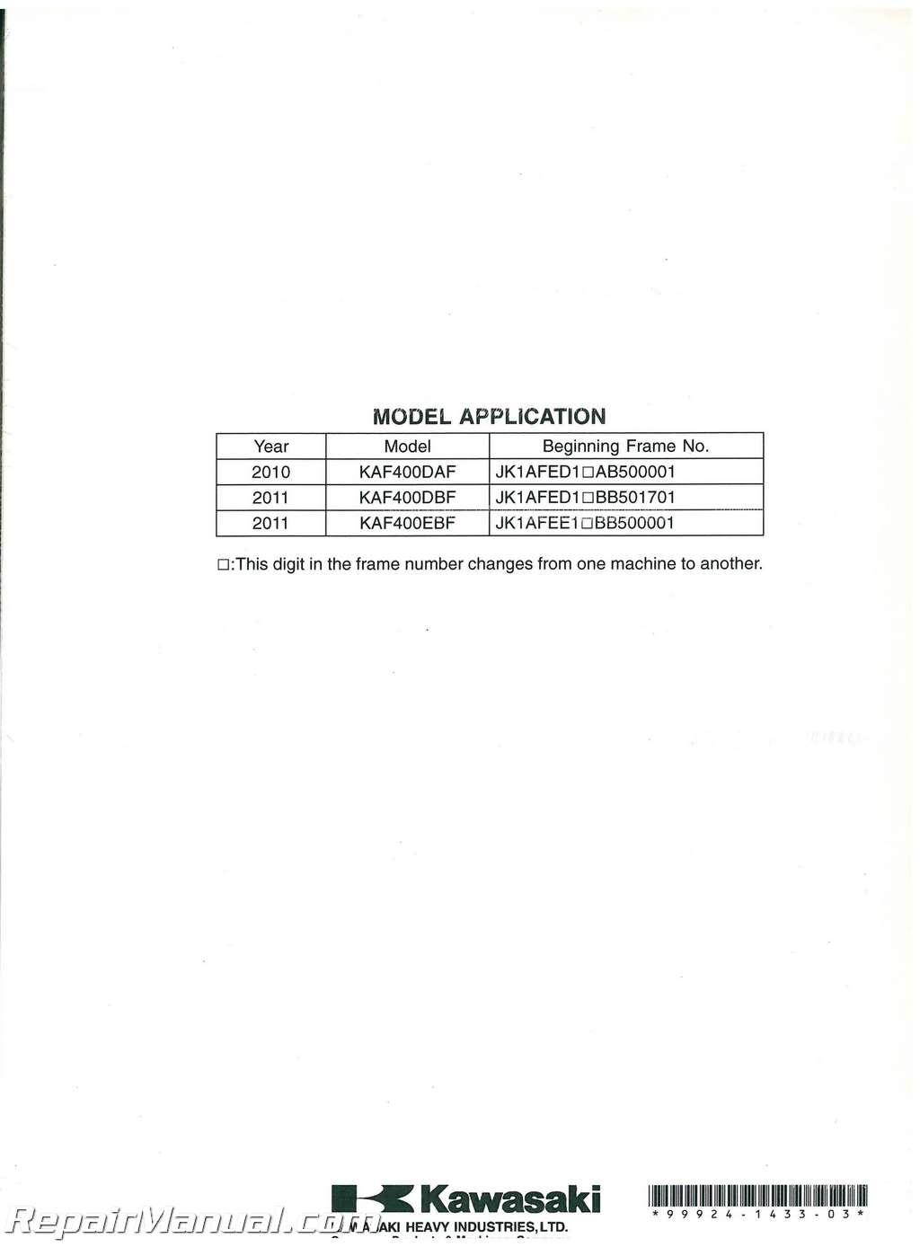 hight resolution of  2011 kawasaki mule 610 service manual on kawasaki klf 300 wiring diagram argo wiring diagram
