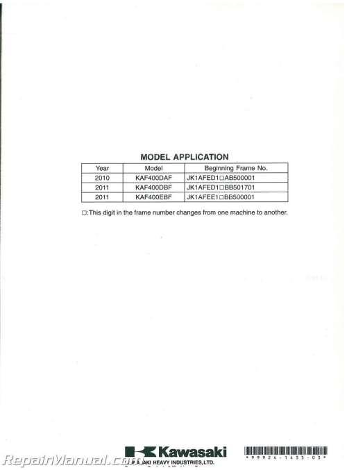small resolution of  2011 kawasaki mule 610 service manual on kawasaki klf 300 wiring diagram argo wiring diagram