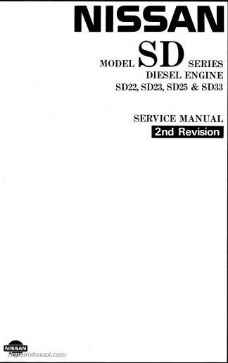 1983 Nissan Diesel Engine SD22 SD23 SD25 SD33 SD33T