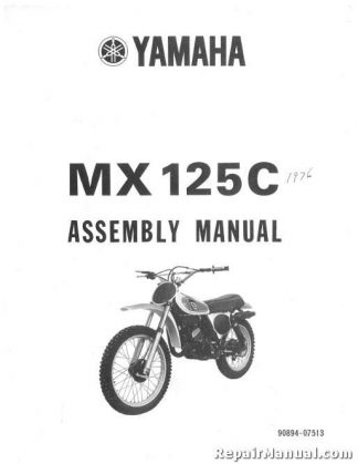 1987 Yamaha YFM350XT Warrior ATV Assembly Manual