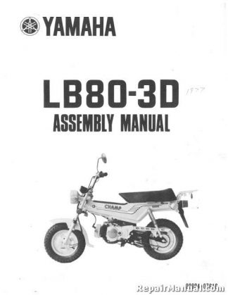 1977 Yamaha LB80-3D Champ Motorcycle Assembly Manual