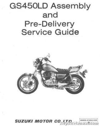 1983 Suzuki GS450LD Motorcycle Assembly Manual