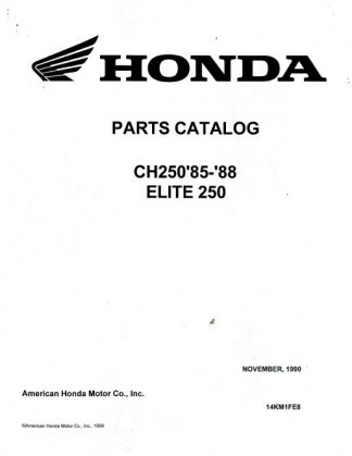 2004 Honda CN250 Helix Scooter Owners Manual