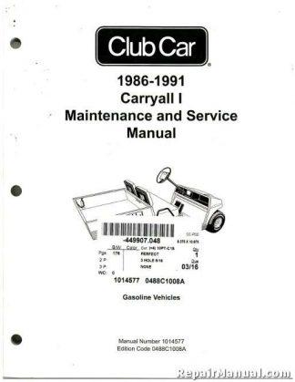 2009-2011 Club Car Gasoline Precedent Maintenance And