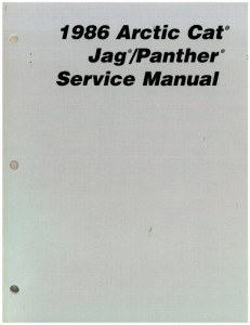 1986 Arctic Cat Jag Panther Snowmobile Service Manual