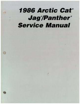 1985 Arctic Cat Cougar El Tigre AFS Snowmobile Service Manual