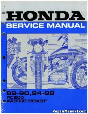 19891998 Honda PC800 Pacific Coast Motorcycle Service Manual