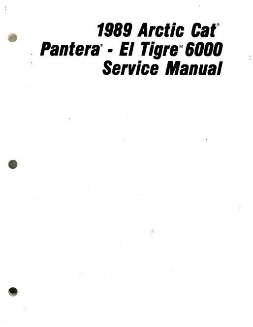 1989 Arctic Cat El Tigre 6000 Pantera Snowmobile Service