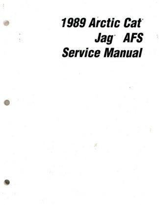 1989 Arctic Cat Jag AFS Snowmobile Service Manual